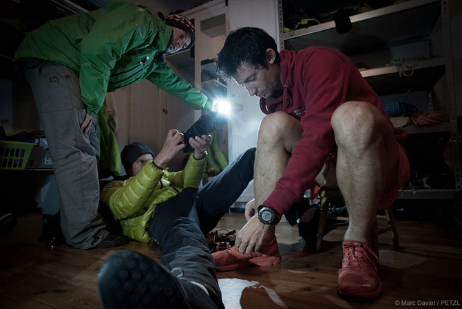 The camera crew, pretty focused on filming the introduction - Kilian Jornet in Norway - Making-of ©M.Daviet