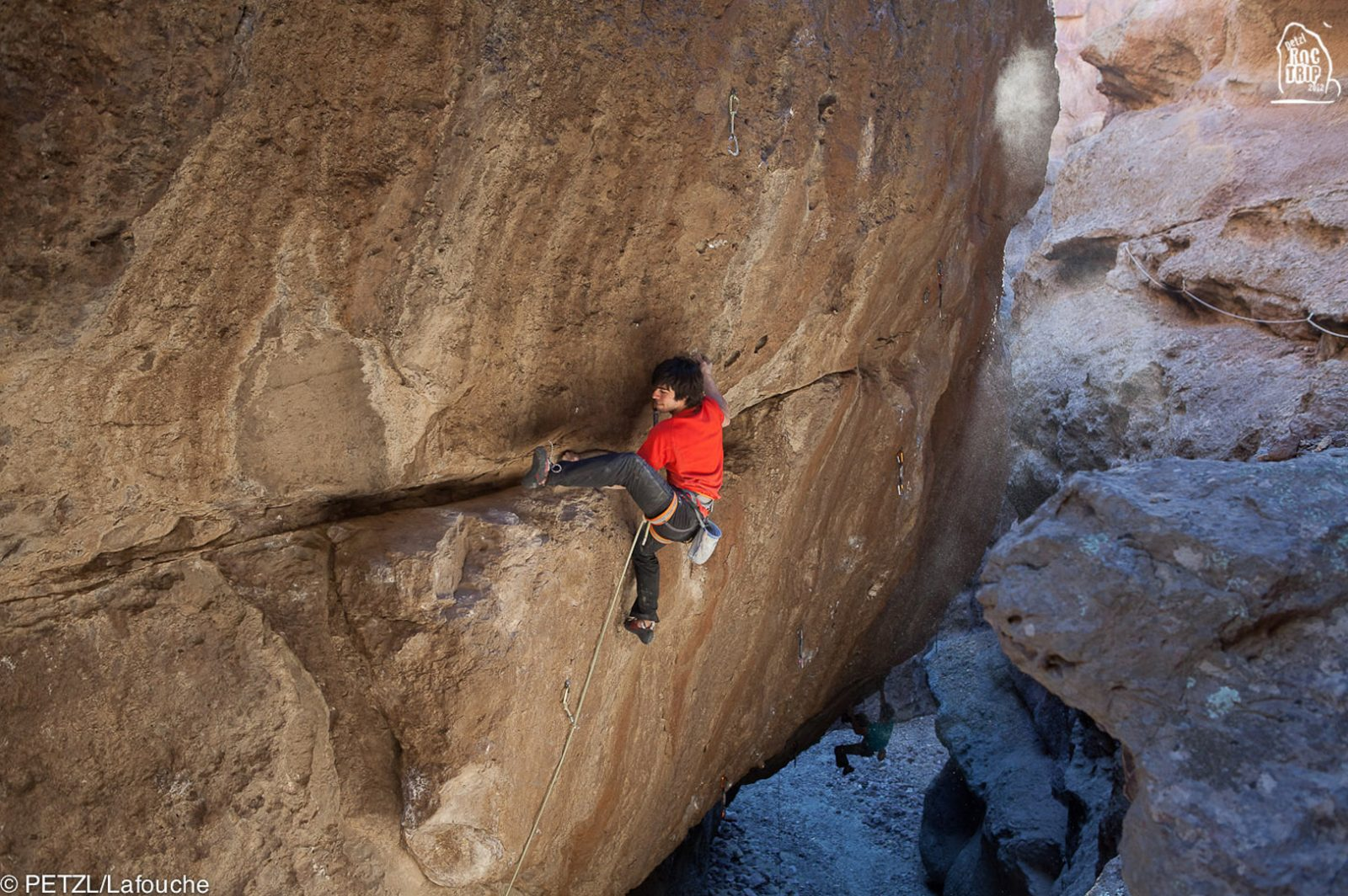 Petzl RocTrip Argentina 2012 - Jon Cardwell on la Buitrera Canyon - ©Lafouche