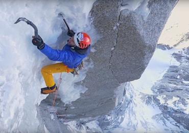 Ueli Steck & Mathieu Maynadier climbing Les Drus