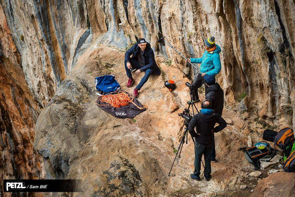 Shooting of The World's Best Belayer - Making of ©Sam Bié
