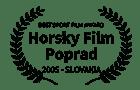 Award - Best Sport Film - Horsky Propad (SK) 2005