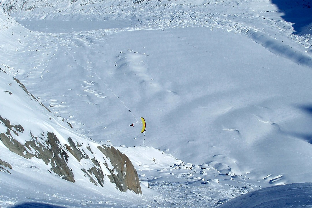 Making-of shooting Ozone Bullet007 - Chamonix 2006 ©Adrien Palandre