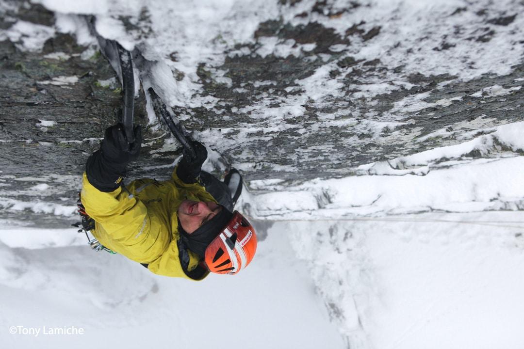 "Ueli Steck in ""The Secret"" Ben Nevis, Scotland - Scottish IceTrip ©Tony Lamiche"
