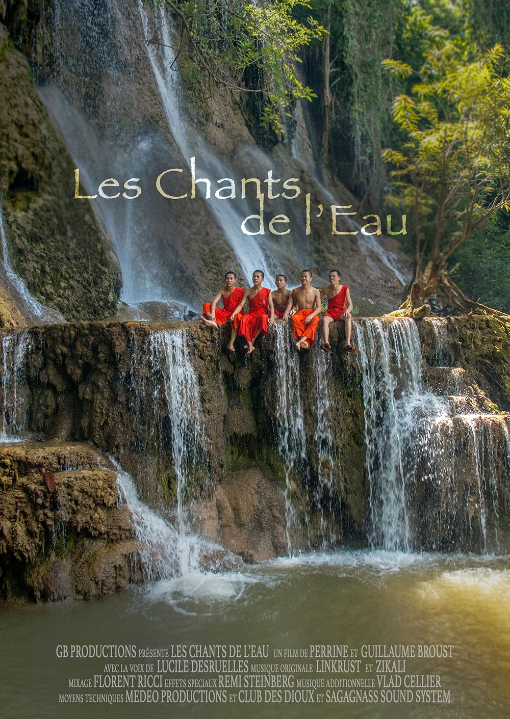 "Affiche officielle du film documentaire ""Les Chants de l'Eau"""
