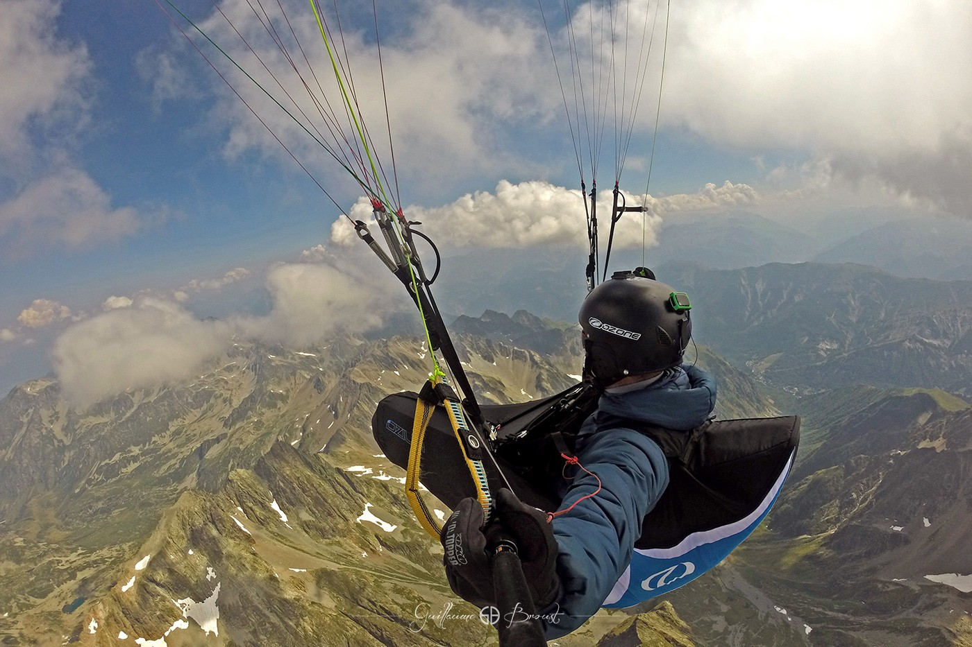 Guillaume Broust - Paragliding over Rocher Blanc, Belledonne ©Guillaume Broust