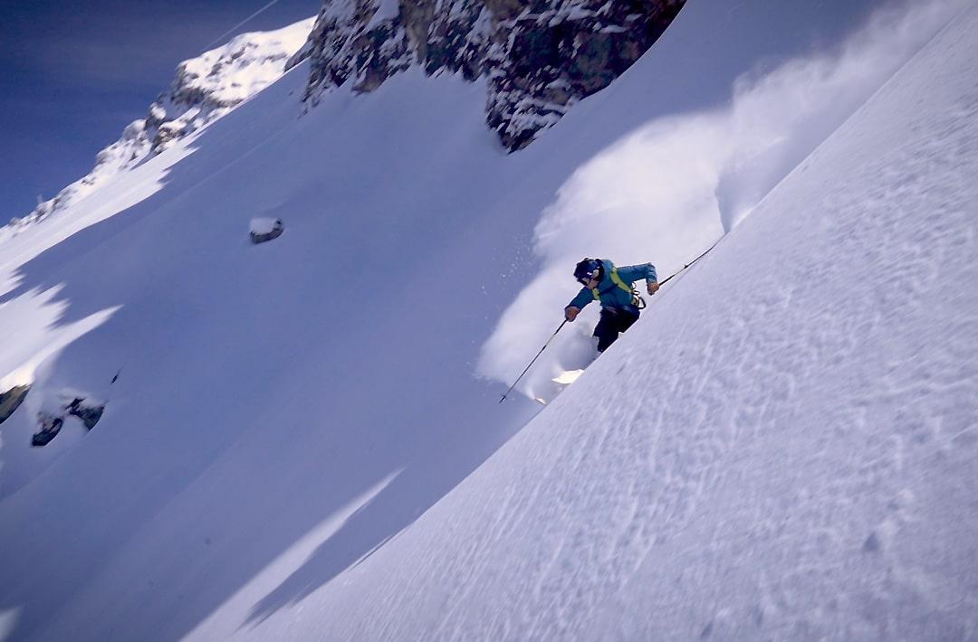 Bon Appétit Ski - Victor Galuchot en tournage freeride à Sainte-Foix ©Guillaume Broust