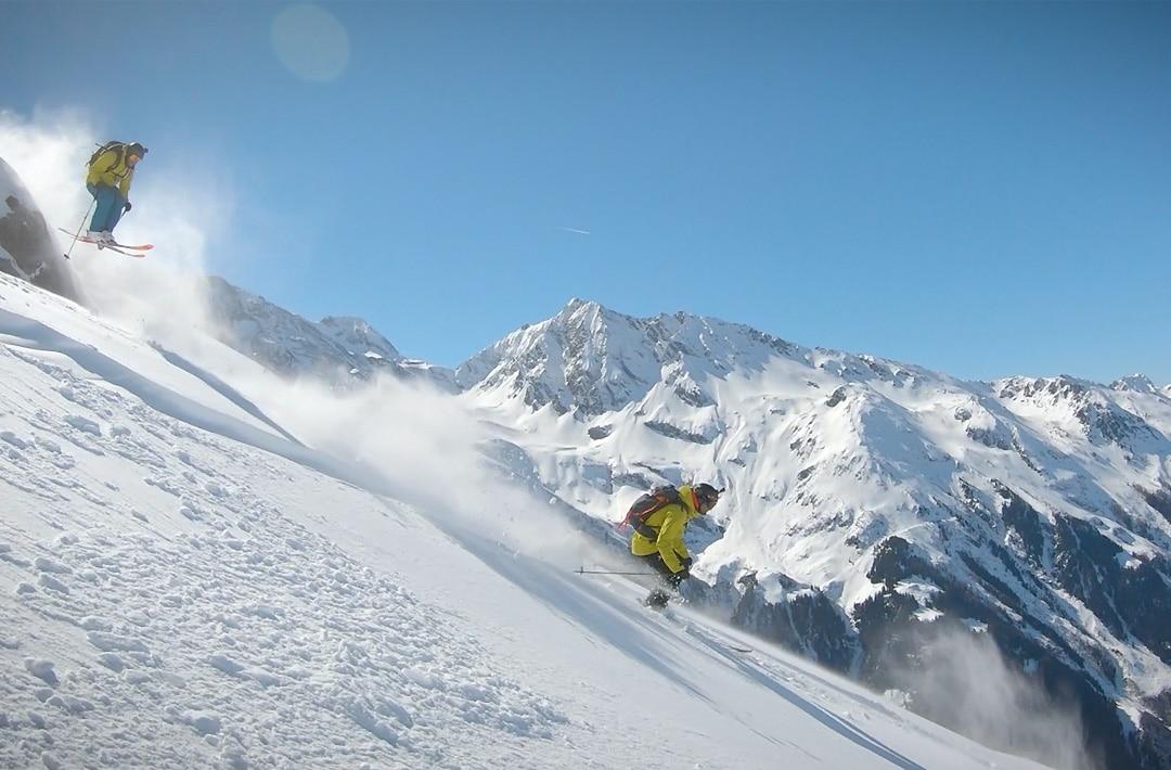 Bon Appétit Ski - Gaëtan Gaudissard et Fabien Maierhofer en mode freeride ©Guillaume Broust