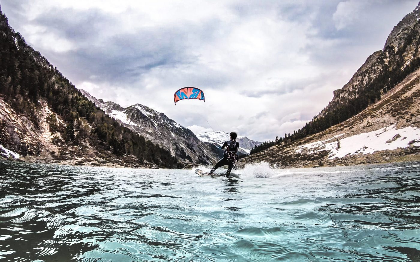 Riding to Explore - kite surfing in the mountains