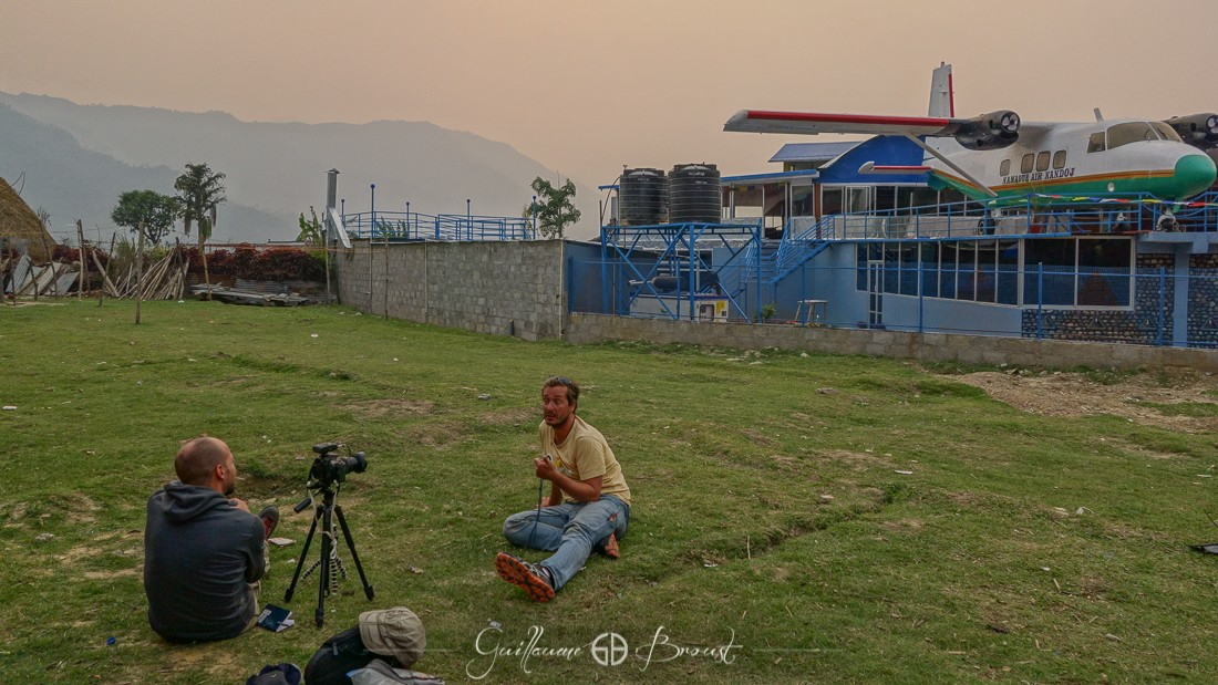 Making-of - Interview in Pokhara - Nepal ©GuillaumeBroust - Les Chants de l'Eau