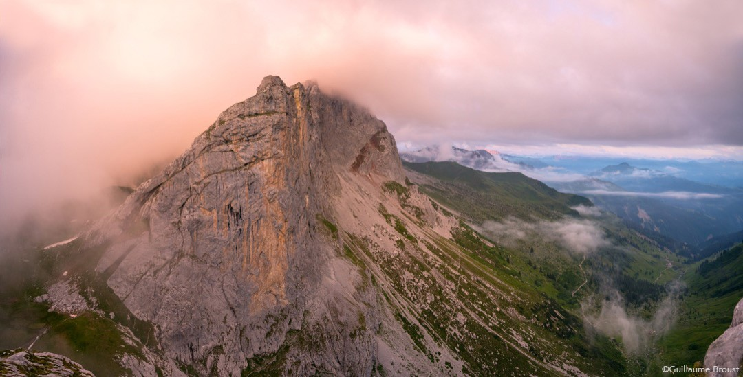 The wall of Rätikon moutains, in Switzerland ©Guillaume Broust