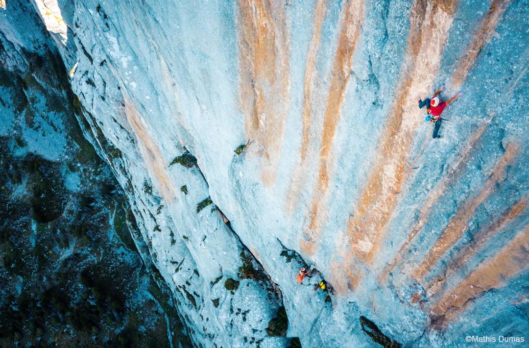 "Swissway to Heaven - climbing ""Yeah Man"" with Cedric Lachat & Melissa LeNevé ©Mathis Dumas"