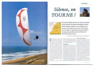 """Parution de l'article """"Flying Babouches"""" dans le magasine Aerial"""