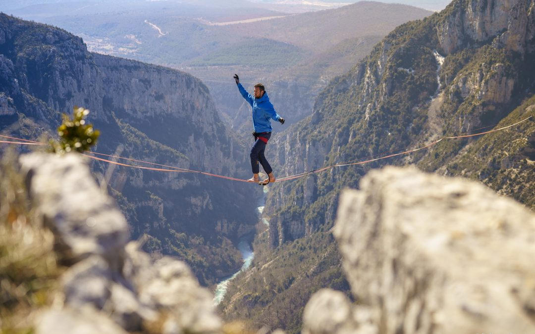 Filming highlining and climbing for Rachid Ouramdane's dance show
