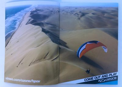 Paragliding in Namibia - photo in Cross Country Magazine - © Guillaume Broust